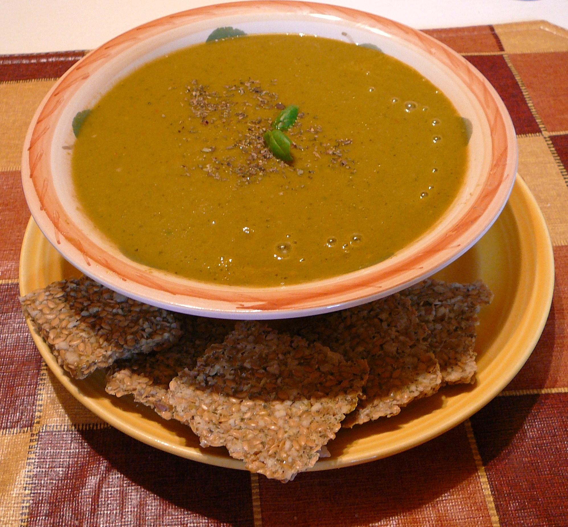 Soupe crémeuse tomate et basilic