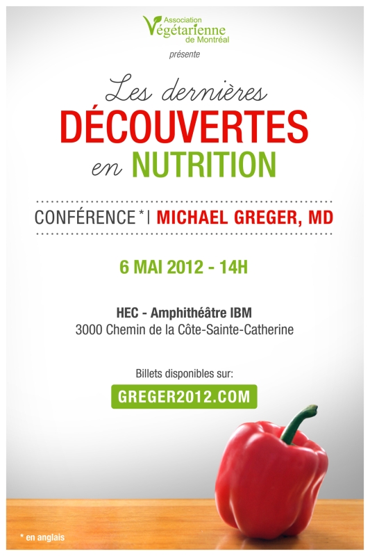 Affiche conférence Michae; Greger
