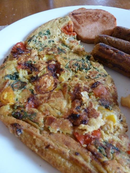 Omelette à la farine de pois chiches
