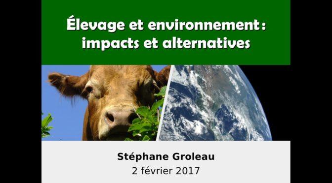 Conférence Élevage et environnement : impacts et alternatives